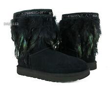 UGG Australia Classic Short Peacock Black Boots Womens 9