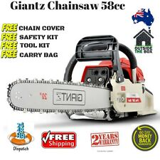 Chainsaw New 58cc Petrol 20inch Bar 2 Chains Tree Arborist Saw E-Start Pruning