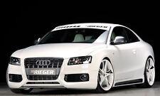 Rieger Seitenschweller im Carbon-Look mit Schacht und Ausschnitt für Audi A5 B8