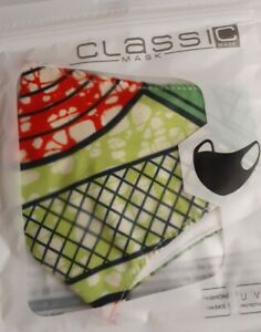 Decorative Face Mask Protection With Style Classic Collection Green Red Mask