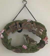 Vivid Arts Hanging Frog Welcome Sign...BNWT