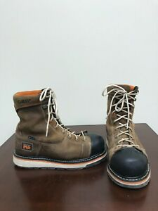 "Men's Timberland Gridworks 8"" Alloy Toe Safety Boots Size 8W."