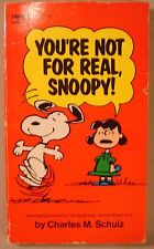 You're No For Real Snoopy Peanuts 1971 SC Charles Schulz VINTAGE Fawcett Crest