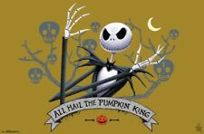 NIGHTMARE BEFORE CHRISTMAS - ALL HAIL PUMPKIN KING POSTER 22x34 - MOVIE 16615