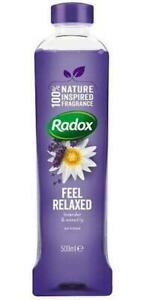 3x Radox Bath Soak Feel Relaxed Lavender & Waterlily 500ml