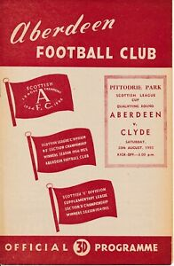 Aberdeen Reserves v Clyde (Scottish Reserve League Cup Qualifying) 1955/1956