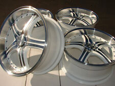 18 4x100 4x114.3 Rims Fits White Accord Civic Prelude Lancer S40 4 Lug Wheels