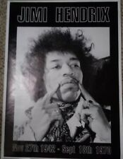 "*Rare* Jimi Hendrix Nov 27, 1992-Sept 18, 1970 35"" X 25"" Out Of Print Poster"