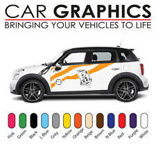 Mini car graphics stripes decals stickers cooper vinyl design mn5