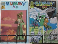GUMBY 3-D (Blackthorne, 1986) #1-2 F-VF WITH GLASSES! Art Clokey, David Weiss