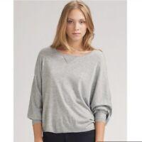 Joie women's trip Grey dolman sleeve knit wool cashmere blend sweater Medium
