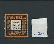 wbc. - CINDERELLA/POSTER - CE10 - EUROPE- INT. CONGRESS - DRESDEN - 1912