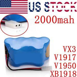 7.2V XB1918 Battery for Shark V1917 V1950 VX3 2000mah Cordless Vacuum Sweeper