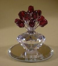 """Swarovski Crystal """"VASE OF ROSES-SCS JUBILLE EDITION""""  Mint condition-No Box"""