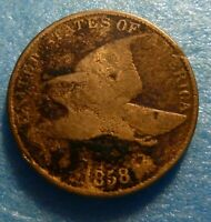 1858  Flying Eagle  Cent  Coin  #R  58 4