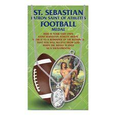 St. Sebastian Football Medal Necklace