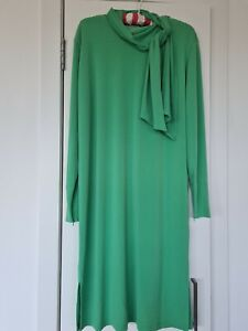 By Malene Birger Knotted Stretch Crepe Green Dress Size S