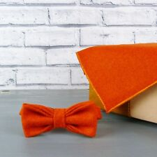 Yorkshire Tweed Bow Tie and Pocket Square - Burnt Orange