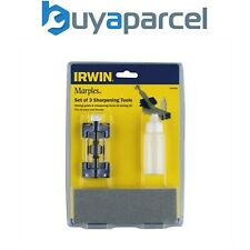 Irwin Marples Honing Guide Stone & Oil Set Sharpening MAR10507932 3 Piece Set