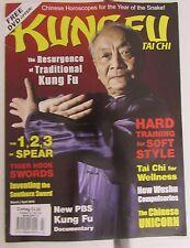 Kung Fu Tai Chi Magazine March/April 2013 Martial Arts Shaolin