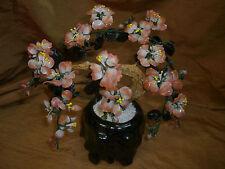 Vintage  Glass Ornamental Bonsai Tree Cherry Blossom Gorgeous