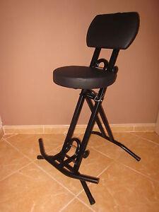 Stehhilfe Stehhocker Stehsitz ergonomischer 6cmSitz.Bis 130kg belastbar Schwarz