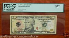 LUCKY 888888 PCGS 25 Very Fine 2006 $10 Federal Reserve Chicago IG46888888A
