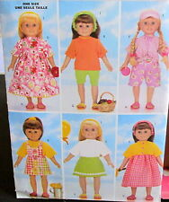 "Doll clothes pattern Spring summer capris shorts dress top sandles 18"" B5452"