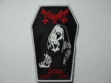 MAYHEM DEAD COFFIN EMBROIDERED PATCH