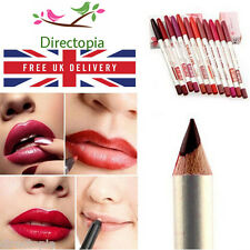 12 Colour Set TRUE LIPS Lip Liner Pencils Cosmetic Make Up Set of 12 Lip Liners