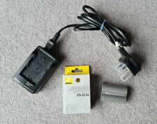 Genuine NIKON MH-18a Battery Charger plus EN-EL3e type battery. Used.