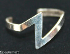 New Oxidized 925 Sterling Silver Toe Finger Z Thunder Design Wire Open Ring