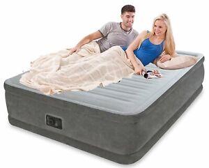 New INTEX QUEEN AIR BED MATTRESS Inbuilt Pump 64414 Huge 46cm High FIBRETECH