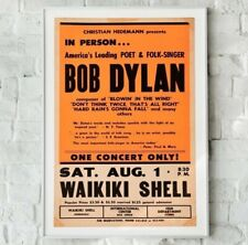 Bob Dylan Print, Bob Dylan Gig Poster, Vintage Repro Music Poster