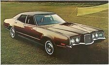 1972 Mercury Montego Brougham 4-Door Hardtop Automobile Advertising Postcard