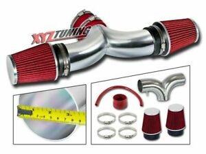 RED 2002 2003 2004 Grand Cherokee 4.7 V8 Dual Twin Air Intake Kit + Filter 3.5