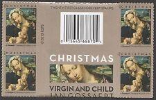 US 4815 Christmas Virgin & Child forever cross gutter header block MNH 2013