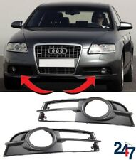 NEW AUDI A6 C6 2005 - 2008 S LINE FRONT BUMPER FOG LIGHT GRILL LEFT RIGHT PAIR