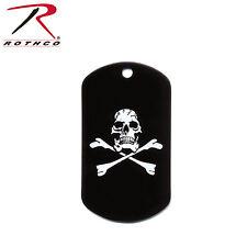 New Rothco 8594 Black Skull & Crossbones Dog Tag Jolly Roger Pirate Dog Tag