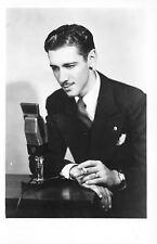 Shenandoah Iowa~KFNF Radio Barn Dance~Jack Mills~Microphone~1940s RPPC