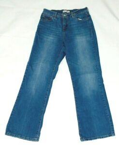 Levi's 512 women's boot cut blue jeans size 10 cotton blend