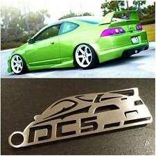Acura RSX / Integra DC5 with wing JDM Stainless Steel metal custom Key chain k20