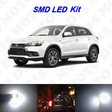 6x White LED Interior Bulbs + License Plate Lights For 2011-2017 Outlander Sport