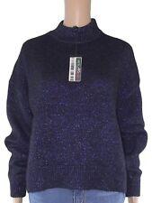 zara knit maglione donna blu metallizzato taglia eur m medium
