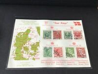 Denmark four kings stamps card   Ref R32112