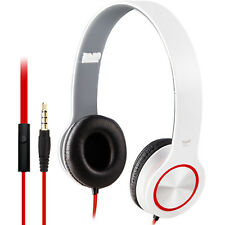 E-books S13 Foldable Headphones with In-Line Control for Computer Laptop - White