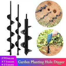 Planter Garden Auger Spiral Flower Powered Post Fence Hole Digger Drill Bit LY