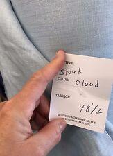 """STOUT DESIGNER LINEN FABRIC- 30 YARDS msrp $129/y linen -""""CLOUD' blue BEAUTIFUL"""