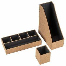 Desk Organizers - 3-Piece Set Desktop Cubicle Accessories, Office Supplies Cork