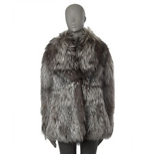 51864 auth CHRISTIAN DIOR taupe FOX FUR Coat Jacket 40 M Retail $35k